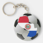 Paraguay futbol keychains