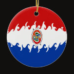 Paraguay Gnarly Flag Ceramic Ornament
