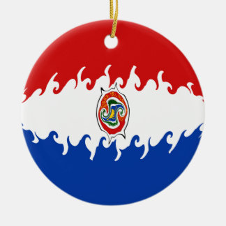 Paraguay Gnarly Flag Ceramic Ornament