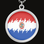 Paraguay Gnarly Flag Silver Plated Necklace