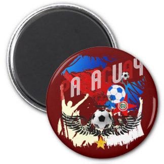 Paraguay Grunge Futbol Guaraníes La Albirroja Magnets