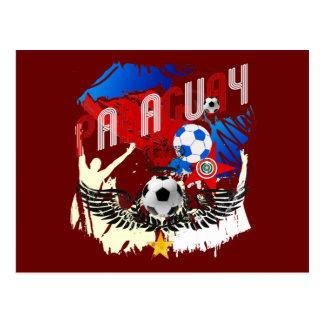 Paraguay Grunge Futbol Guaraníes La Albirroja Post Card