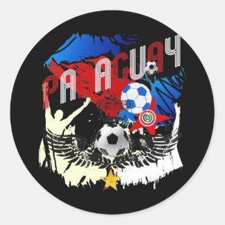 Paraguay Grunge Futbol Guaraníes La Albirroja Sticker