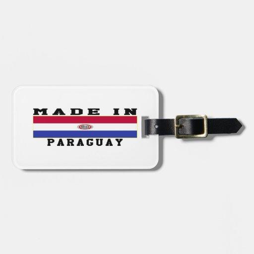 Paraguay hizo en diseños etiquetas maletas