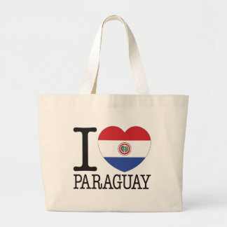 Paraguay Love v2 Tote Bags