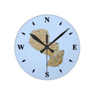 Paraguay Map Clock
