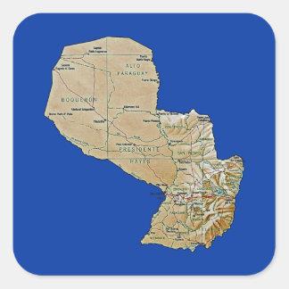 Paraguay Map Sticker