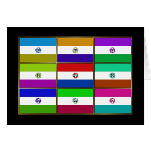 Paraguay Multihue Flags Greeting Card