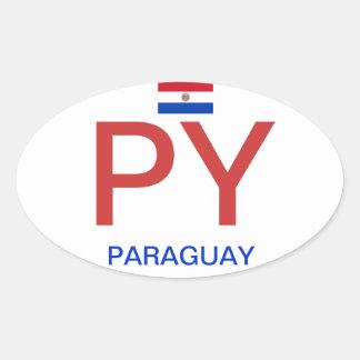 Paraguay* Oval Sticker  Pegatina Oval de Paraguay