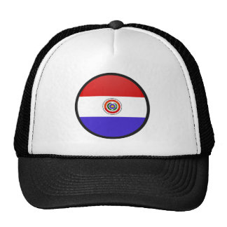 Paraguay quality Flag Circle Trucker Hat