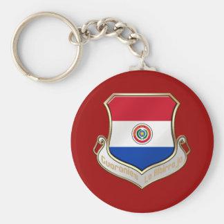 Paraguay shield emblem badge for Guaraníes Keychain