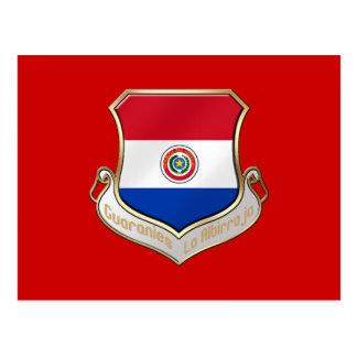 Paraguay shield emblem badge for Guaraníes Postcards