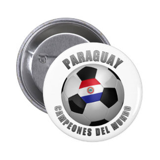 PARAGUAY SOCCER CHAMPIONS BUTTONS