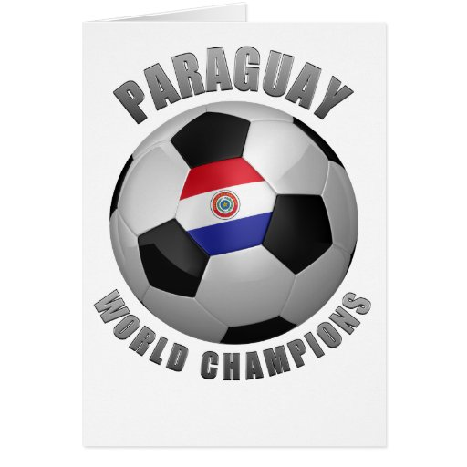 PARAGUAY SOCCER CHAMPIONS CARD