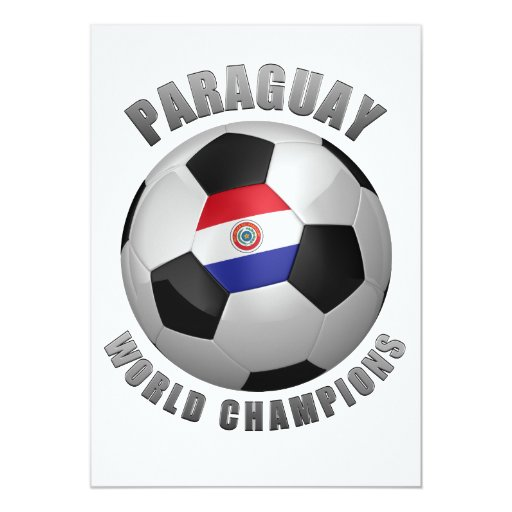 PARAGUAY SOCCER CHAMPIONS 5X7 PAPER INVITATION CARD