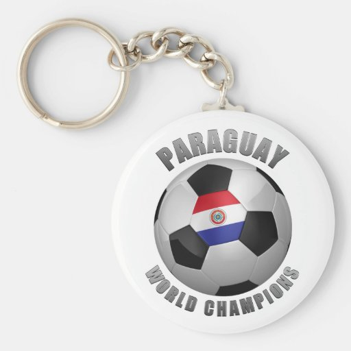 PARAGUAY SOCCER CHAMPIONS KEYCHAINS