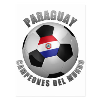 PARAGUAY SOCCER CHAMPIONS POSTCARD