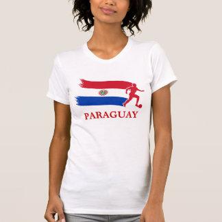 Paraguay Soccer Flag Tee Shirt