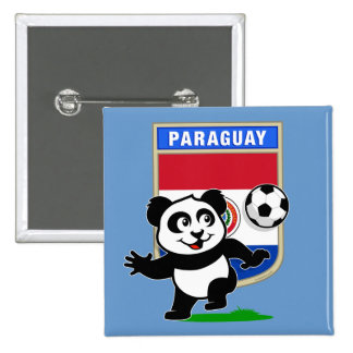 Paraguay Soccer Panda Buttons