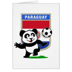 Greeting Card with Paraguay Football Panda design