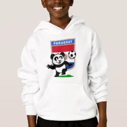Girls' American Apparel Fine Jersey T-Shirt with Paraguay Football Panda design