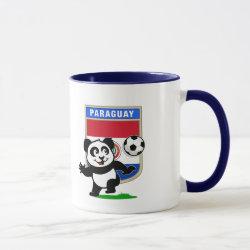 Combo Mug with Paraguay Football Panda design