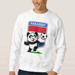 Men's Basic Sweatshirt with Paraguay Football Panda design