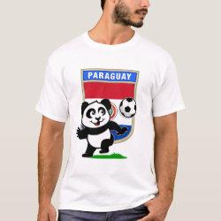 Men's Basic T-Shirt with Paraguay Football Panda design