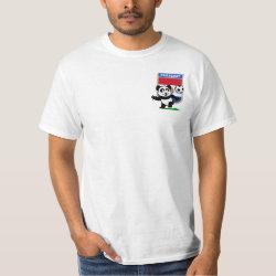 Men's Crew Value T-Shirt with Paraguay Football Panda design