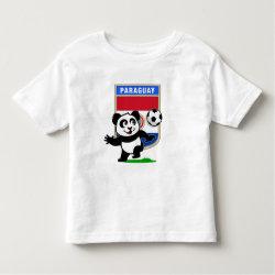 Toddler Fine Jersey T-Shirt with Paraguay Football Panda design