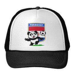 Trucker Hat with Paraguay Football Panda design