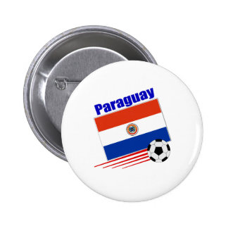 Paraguay Soccer Team 2 Inch Round Button