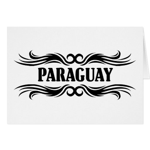 Paraguay tribal tarjeta