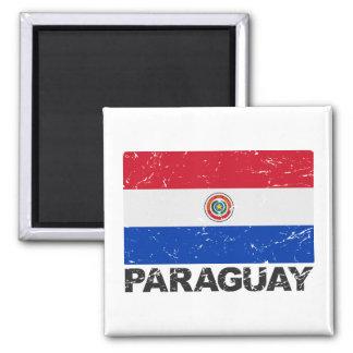Paraguay Vintage Flag Magnet