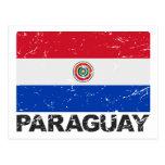 Paraguay Vintage Flag Postcard