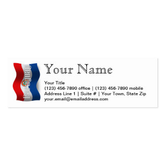 Paraguay Waving Flag Business Card Template