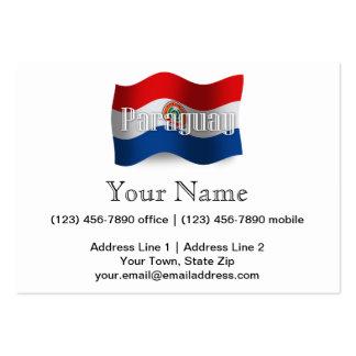 Paraguay Waving Flag Business Card Templates