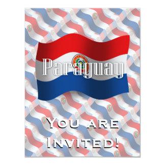 Paraguay Waving Flag Custom Invitations