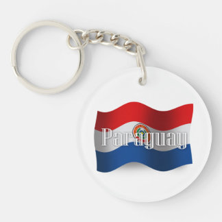 Paraguay Waving Flag Keychain