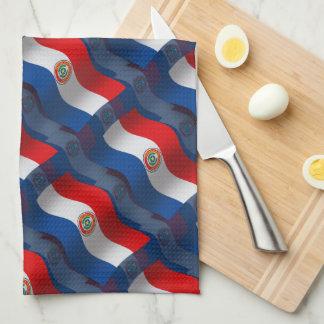 Paraguay Waving Flag Hand Towel