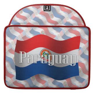 Paraguay Waving Flag MacBook Pro Sleeve