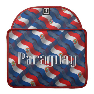 Paraguay Waving Flag Sleeves For MacBook Pro