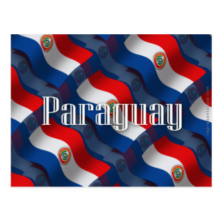 Paraguay Waving Flag Postcard