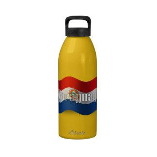 Paraguay Waving Flag Drinking Bottles