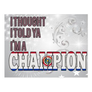 Paraguayan and a Champion Postcard