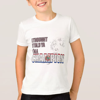 Paraguayan and a Champion T-Shirt