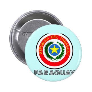 Paraguayan Emblem 2 Inch Round Button