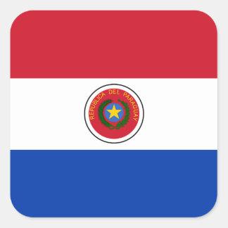 Paraguayan Flag Square Sticker