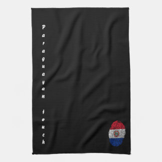 Paraguayan touch fingerprint flag kitchen towel