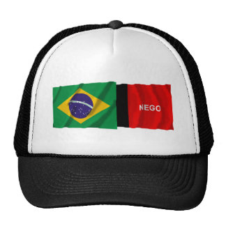 Paraíba & Brazil Waving Flags Trucker Hat